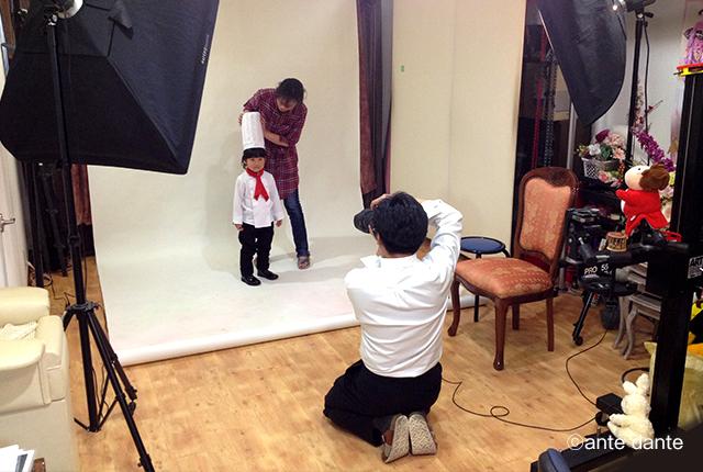 撮影 スタジオ 写真 パティシエ 子ども