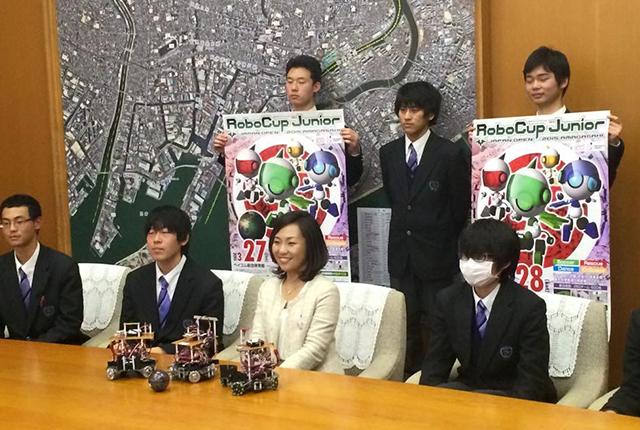 尼崎 市長 プレスリリース ロボカップジュニア ポスター ante dante