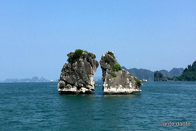 ベトナム ハロン湾 闘鳥岩