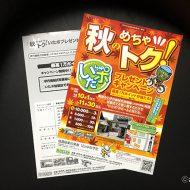 秋 キャンペーン チラシ ポスター デザイン