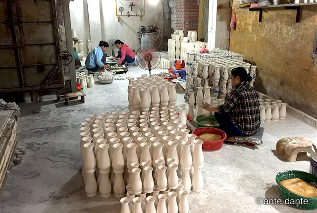ベトナム 陶器 バッチャン焼 工場